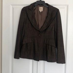 Nanette Lepore Size 8 brown blazer